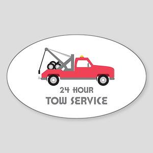 24 Hour Tow Service Sticker