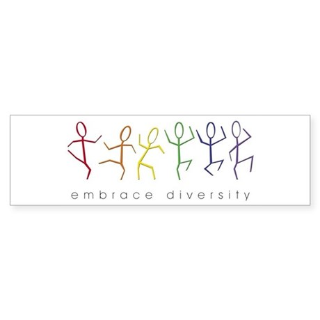 dancing rainbow Bumper Sticker