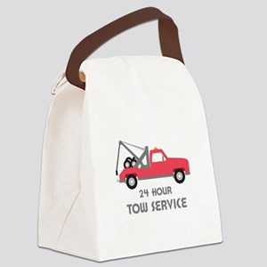 24 Hour Tow Service Canvas Lunch Bag