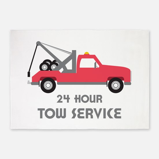 24 Hour Tow Service 5'x7'Area Rug