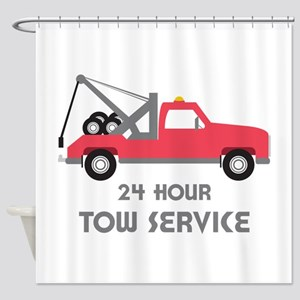 24 Hour Tow Service Shower Curtain
