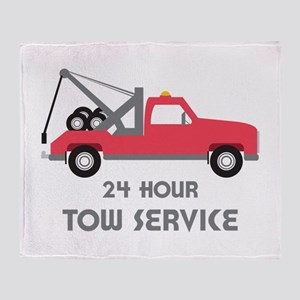 24 Hour Tow Service Throw Blanket