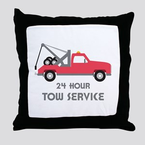 24 Hour Tow Service Throw Pillow