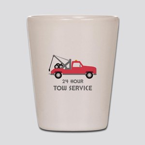 24 Hour Tow Service Shot Glass
