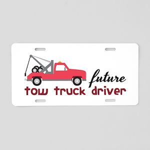 Future Tow Truck Dreiver Aluminum License Plate