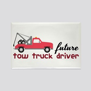 Future Tow Truck Dreiver Magnets