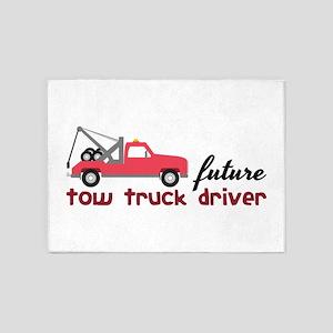 Future Tow Truck Dreiver 5'x7'Area Rug