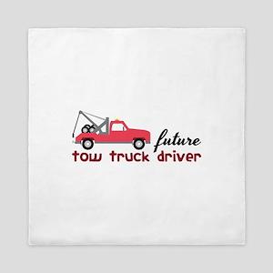 Future Tow Truck Dreiver Queen Duvet