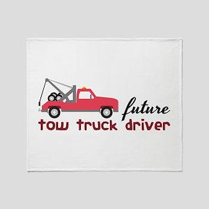 Future Tow Truck Dreiver Throw Blanket