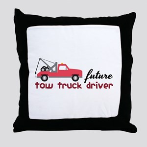 Future Tow Truck Dreiver Throw Pillow