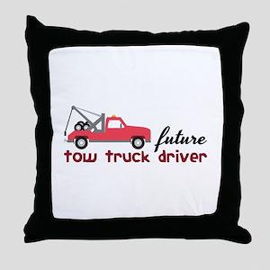 Future Tow Truck Dreiver Throw Pillow