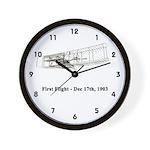 First Flight Wall Clock