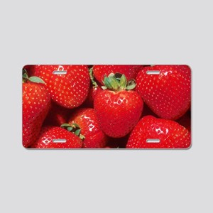 Strawberries Aluminum License Plate