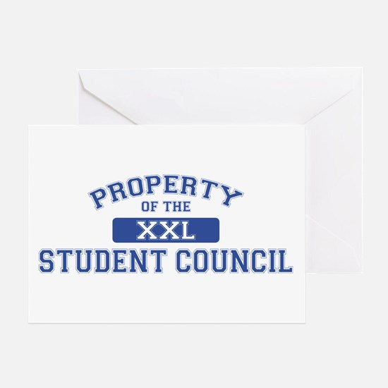 Property Of The Student Council XXL Greeting Card