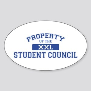 Property Of The Student Council XXL Oval Sticker