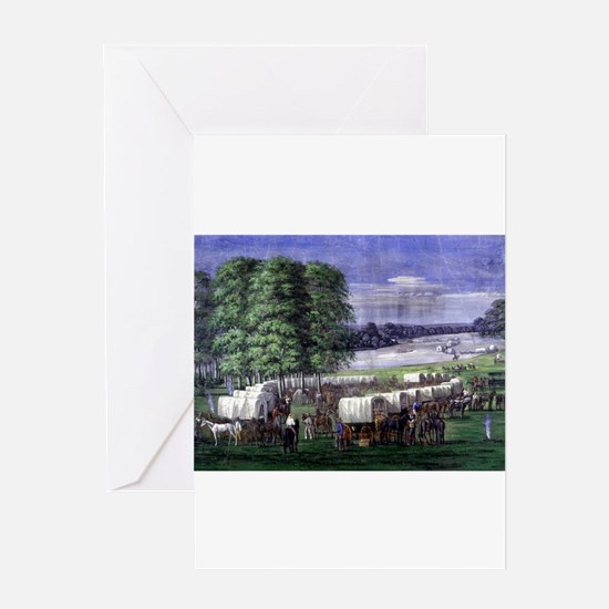 Wagon Train Greeting Cards