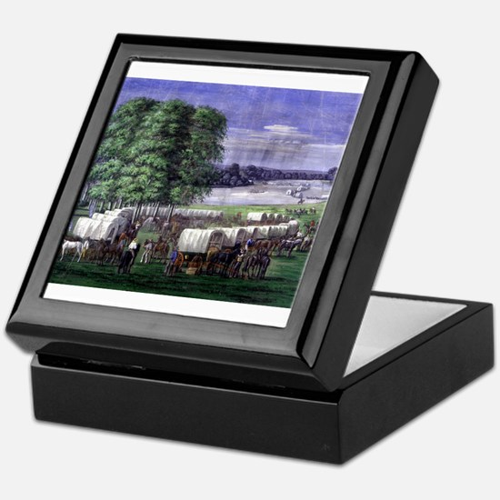 Wagon Train Keepsake Box