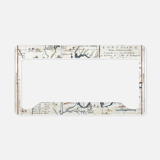 Vintage Map of The Great Lake License Plate Holder