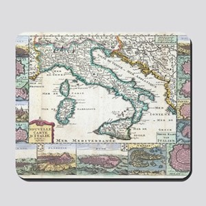 Vintage Map of Italy (1706) Mousepad