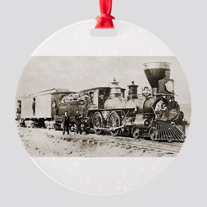 old west trains Ornament