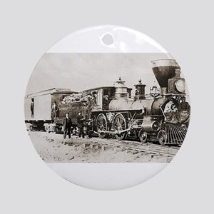 old west trains Ornament (Round)