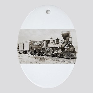 old west trains Ornament (Oval)