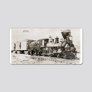 old west trains Aluminum License Plate