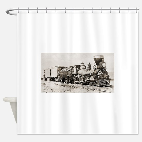 old west trains Shower Curtain