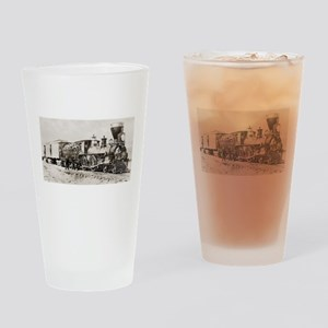 old west trains Drinking Glass