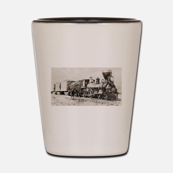 old west trains Shot Glass
