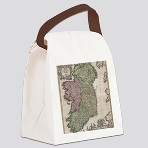 Vintage Map of Ireland (1716) Canvas Lunch Bag