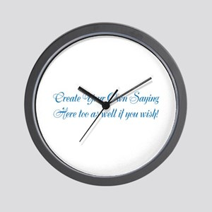 CREATE YOUR OWN GIFT SAYING/MEME Wall Clock