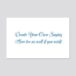 CREATE YOUR OWN GIFT SAYING/MEME Mini Poster Print