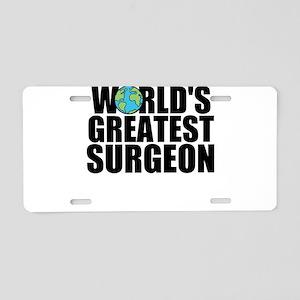 World's Greatest Surgeon Aluminum License Plat
