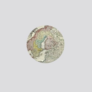 Vintage Map of Scandinavia (1730) Mini Button