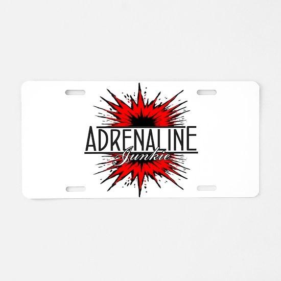 Adrenaline Junkie Aluminum License Plate