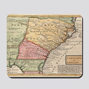 Vintage Map of the Carolinas (1746) Mousepad