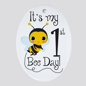 It's my Bee Day Ornament (Oval)