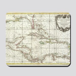 Vintage Map of The Caribbean (1762) Mousepad