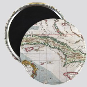 Vintage Map of Cuba and Jamaica (1763) Magnet