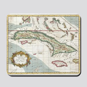 Vintage Map of Cuba and Jamaica (1763) Mousepad