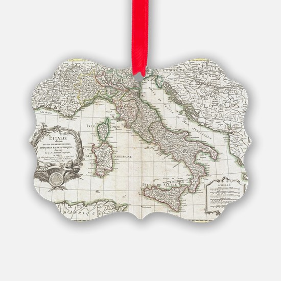 Vintage Map of Italy (1770)  Ornament