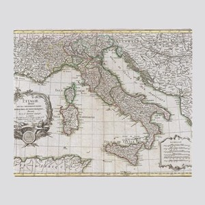 Vintage Map of Italy (1770)  Throw Blanket