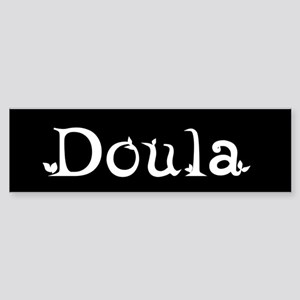 Doula Black Bumper Sticker