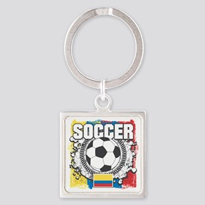 Columbia Soccer Square Keychain