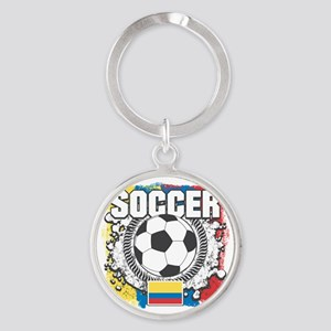 Columbia Soccer Round Keychain