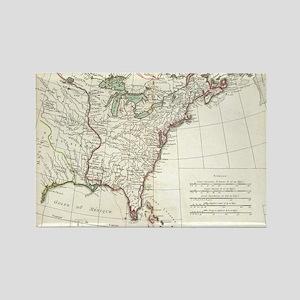 Thirteen Colonies Vintage Map (17 Rectangle Magnet