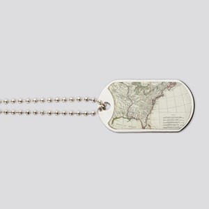 Thirteen Colonies Vintage Map (1776) Dog Tags