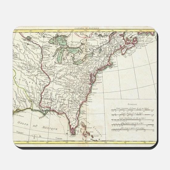 Thirteen Colonies Vintage Map (1776) Mousepad