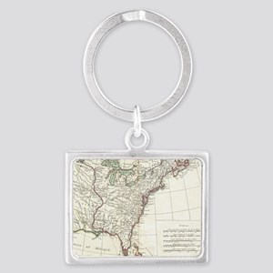 Thirteen Colonies Vintage Map ( Landscape Keychain